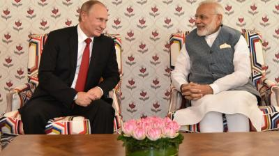 Prime Minister Narendra Modi and Russian President Vladimir Putin held bilateral talks ahead of the BRICS Summit in Goa on Saturday.