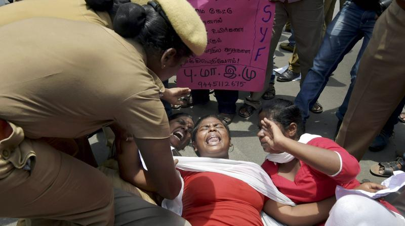 NEET: Day after Anitha's death protests erupt; Grieving father, actors seek justice
