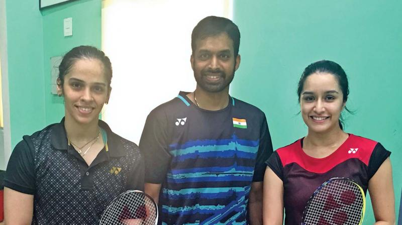 Saina Nehwal trains Shraddha Kapoor for her biopic