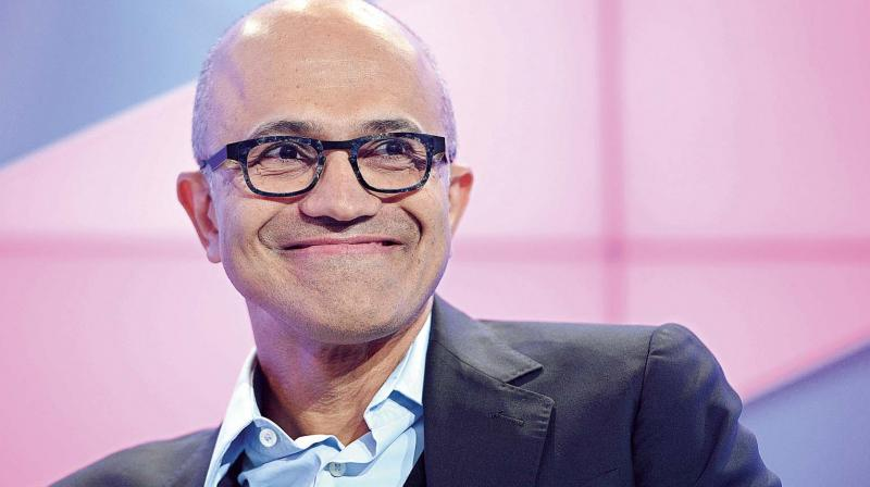 Microsoft executives earlier this year said that Apple copied the Surface Pro with the iPad Pro. Photo: Satya Nadella