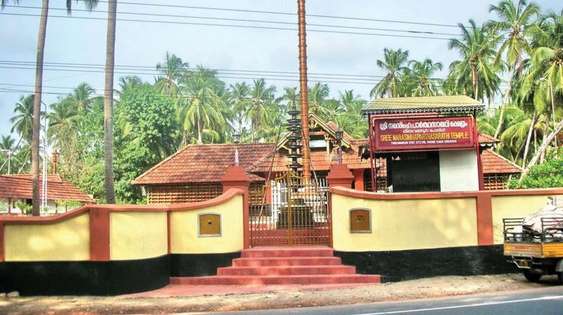 NH-66 passes through in front of Narasimha Parthasarathy temple at Thiruvangoor.