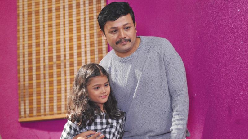 Ganesh and his daughter Charitrya