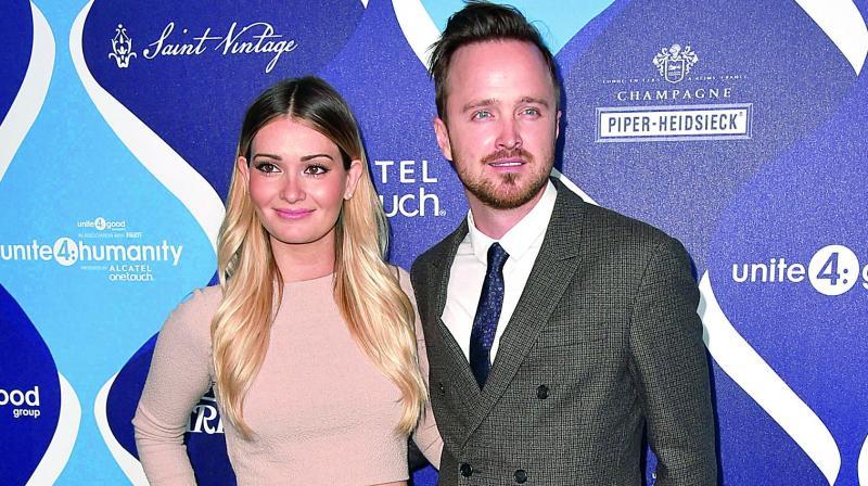 Lauren Paul and Aaron Paul