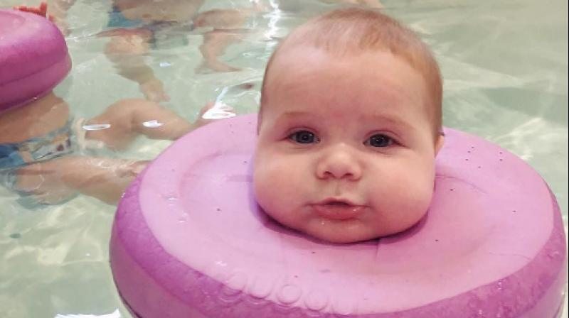 Baby spa in Perth is a hydrotherapy treatment for babies started by Indian-origin Anita and Kavita. (Photo: Instagram/BabySpaPerth)