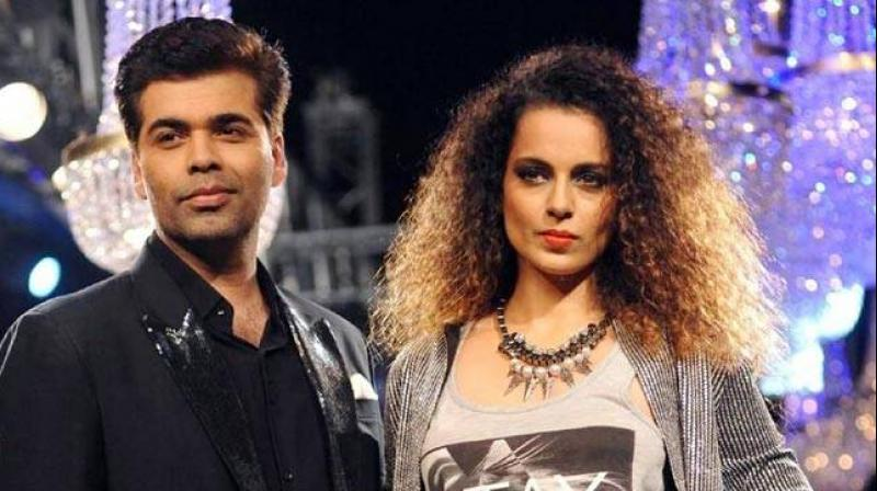Karan Johar with Kangana Ranaut.