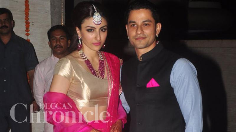 Soha Ali Khan with husband Kunal Kemmu.