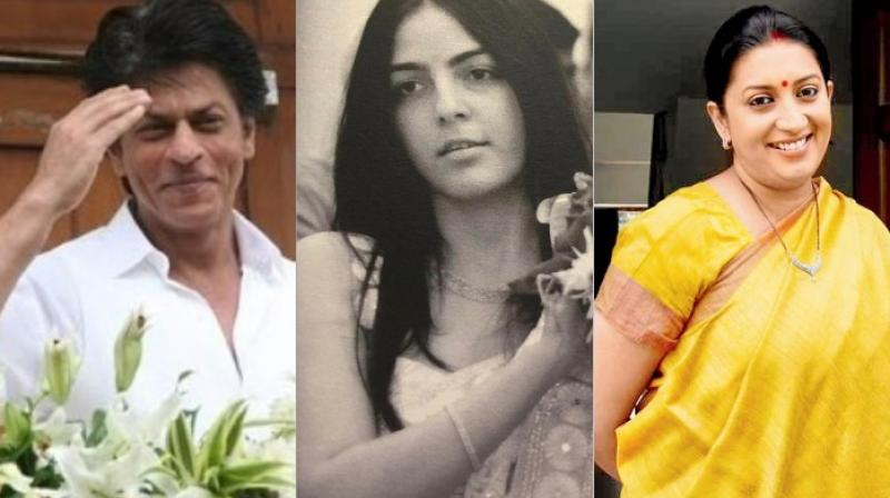 Shah Rukh Khan named Smriti Irani's step-daughter?