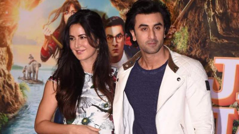 Katrina Kaif and Ranbir Kapoor at the song launch of their film 'Jagga Jasoos.'