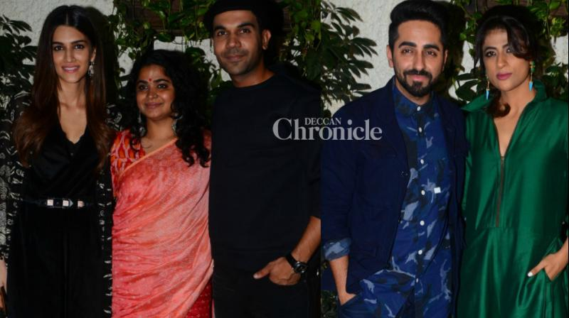 The team of 'Bareilly Ki Barfi' held a screening of their film in Mumbai late Wednesday, which was attended by several stars from the film industry. (Photo: Viral Bhayani)