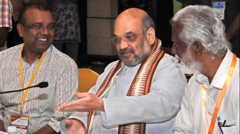 Amit Shah meets Christian bishops in Kerala