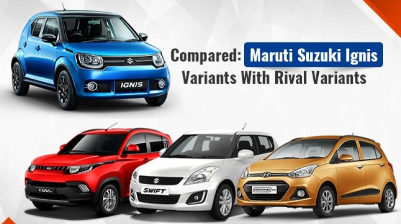 Maruti suzuki ignis vs kuv100 vs grand i10 vs swift feature comparison
