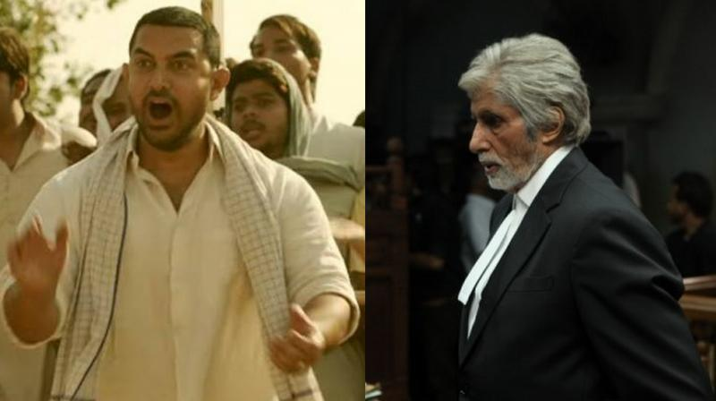 Stills from the two films.