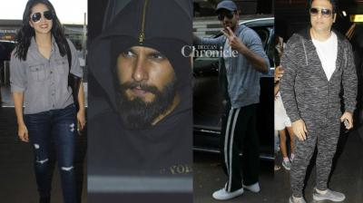 Bollywood stars were spotted by photographers in Mumbai on Sunday. (Photo: Viral Bhayani)