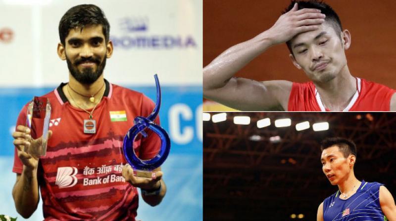 Kidambi Srikanth spoke about badminton stars Lin Dan (top) and Lee Chong Wei. (down). (Photo: AP)