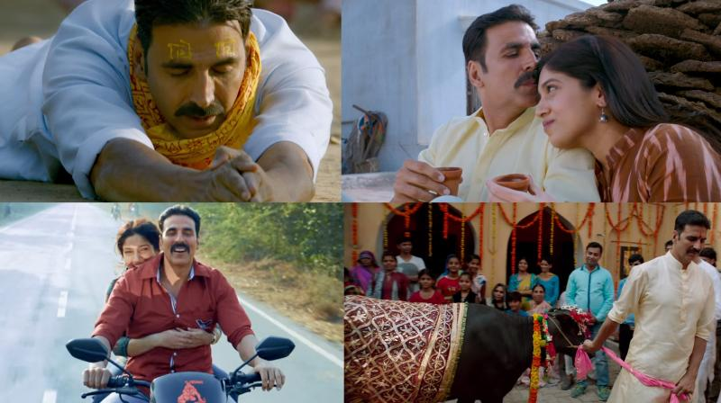 Akshay romances Bhumi and marries a not so happy cow in Bakheda