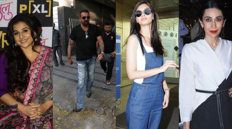 Bollywood celebrities like Vidya Balan, Karisma Kapoor, Diana Penty, Sanjay Dutt, R.Madhvan, Imtiaz Ali were spotted at different events in the city. (Photos: Viral Bhayani)