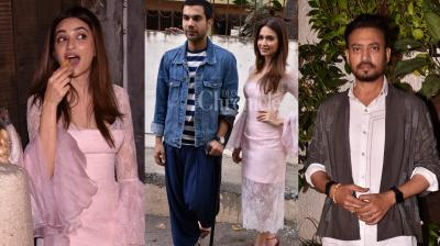 Irrfan Khan snapped at the preview show of his upcoming release Qarib Qarib Singlle. Kriti Kharbanda had a glala time at Shadi Mein Zaroor Aana screening, her upcoming film with Rajkummar Rao. (Photos: Viral Bhayani)