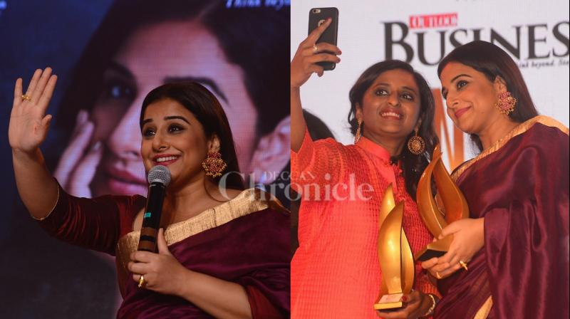Actress Vidya Balan was present at the magazine cover launch event in the city, the actress was also honoured for her impeccable contribution in the films. (Pictures: Viral Bhayani)