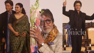 Star studded affair: Bollywood stars Shah Rukh Khan, Amitabh Bachchan, Kajol, filmmaker Mahesh Bhatt, South Superstar Kamal Haasan inaugurated the 23rd Kolkata International Film Festival along with Chief minister Mamata Banerjee. (Photos: Viral Bhayani)