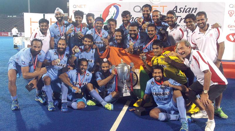 The Indian team with their spoils. (Photo: DC)