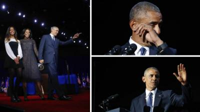In a speech that was inspirational and emotional, Barack Obama bid adieu as the President of United States of America.