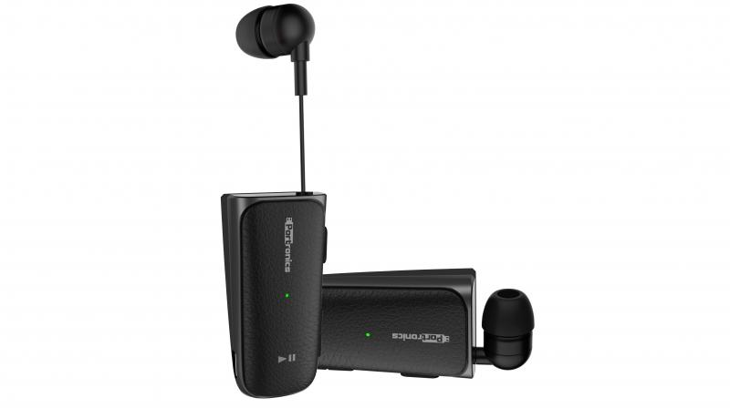 Harmonics Klip II comes with a retractable wire and allows to simply pull out and insert the tethered ear bud into the ear when answering a call or listening to music.
