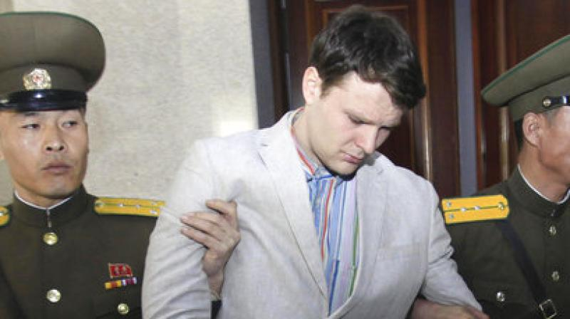US college student released by NKorea arrives home in coma