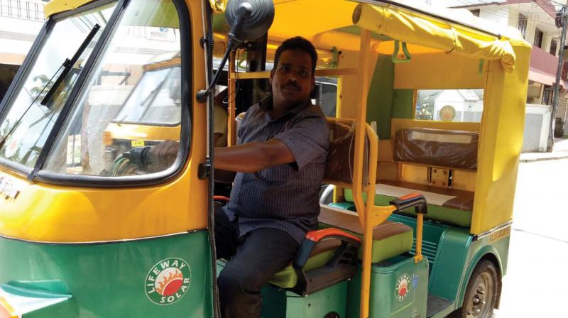 A solar autorickshaw at PTR (Photo: DC)