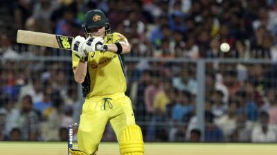 Steve Smith got to his 18th ODI fifty.(Photo: AP)