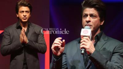 Shah Rukh Khan unveiled the TV show 'TED Talks', an Indian version of the popular international show,  at an event in Mumbai on Thursday. (Photo: Viral Bhayani)