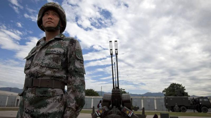 The CCTV reported that the military drill was organised in the Tibet Autonomous Region (Photo: AP)
