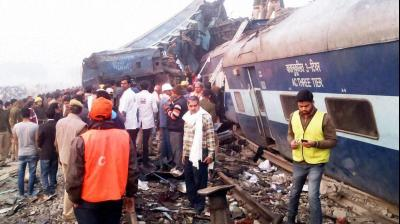 At least 96 passengers were killed and over 226 injured - 76 of them seriously - when 14 coaches of the Indore-Patna Express derailed near Pukhraya in Kanpur dehat district in the wee hours on Sunday.