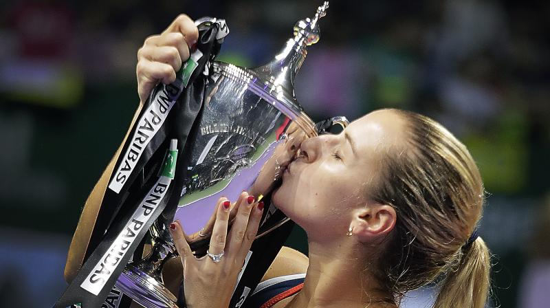 Cibulkova beat Kerber 6-3, 6-4 in the final. (Photo: AP)