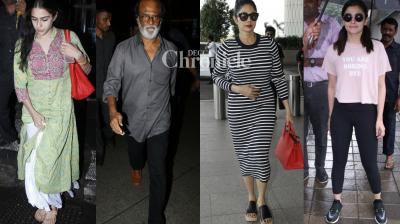 Stars from the film industry were spotted at the airport, restaurant and various other places in Mumbai on Thursday. (Photo: Viral Bhayani)