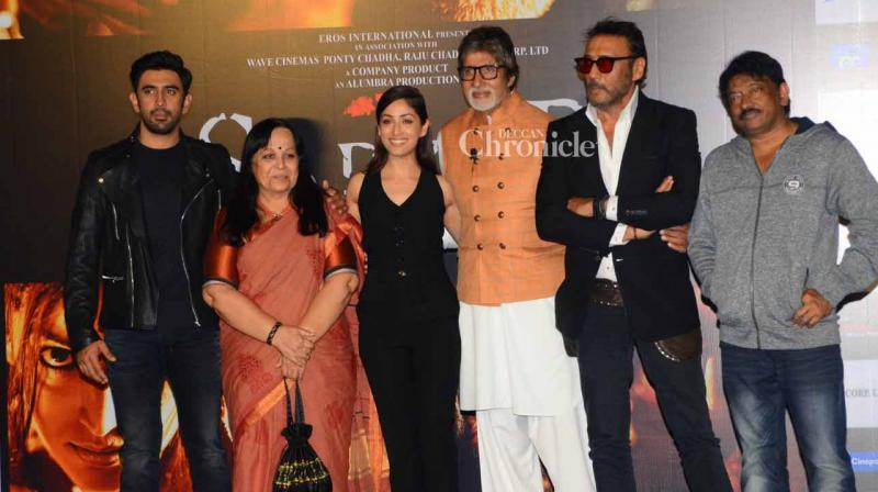 The cast and crew of 'Sarkar 3' launched the trailer of the film in Mumbai on Wednesday. (Photo: Viral Bhayani)