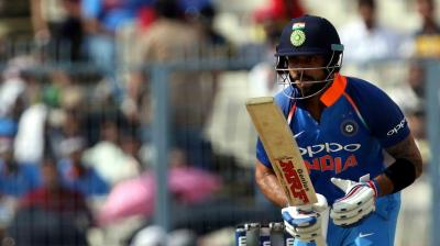 Virat Kohli has brought up his 45th ODI fifty as India look to score big in Kolkata ODI. (Photo: BCCI)