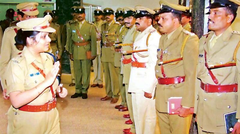 Roopa with other officers