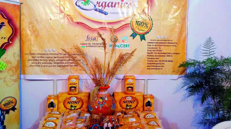 Chekoti Bio Organic puts its products on display at its office. (Photo: DC)