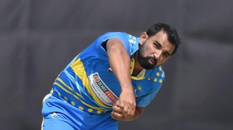 Mohammed Shami bowled with a lot of fire on a placid Kotla pitch and scalped four wickets during the Bengal versus Tamil Nadu Vijay Hazare Trophy final. (Photo: PTI)