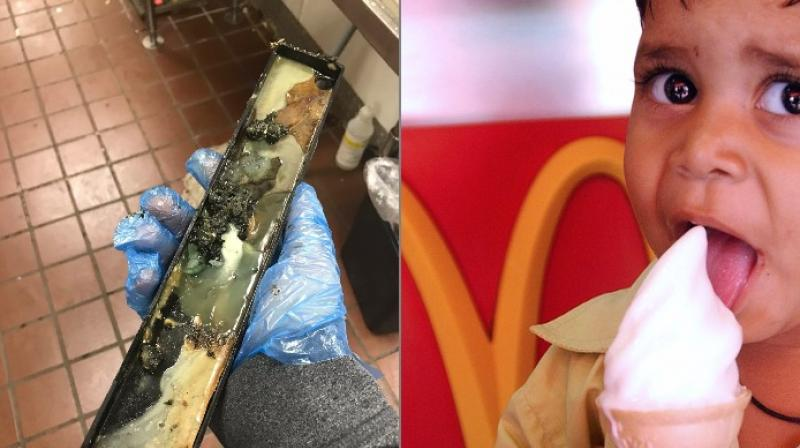 McDonald's Employee Shares Gross Photos Of Moldy Ice Cream Machine