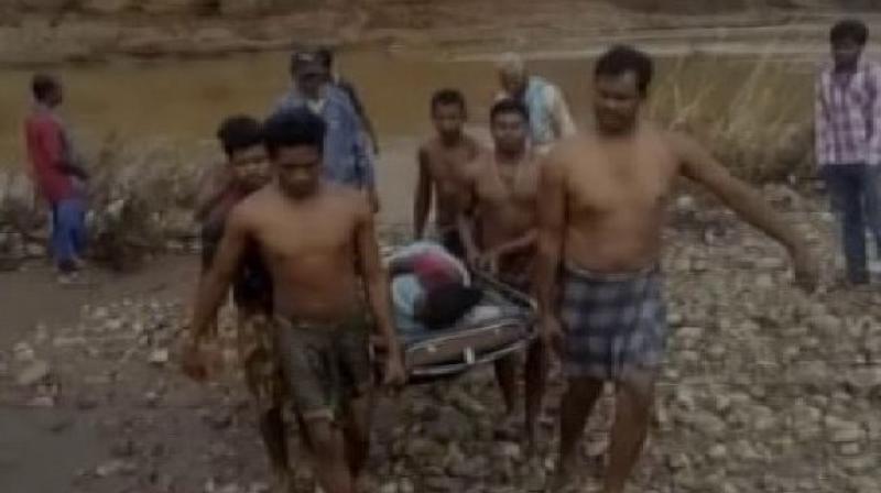 The incident took place at Fakeri village under Parsali panchayat in Niyamgiri hill of Odisha's Rayagada district. (Photo: ANI)