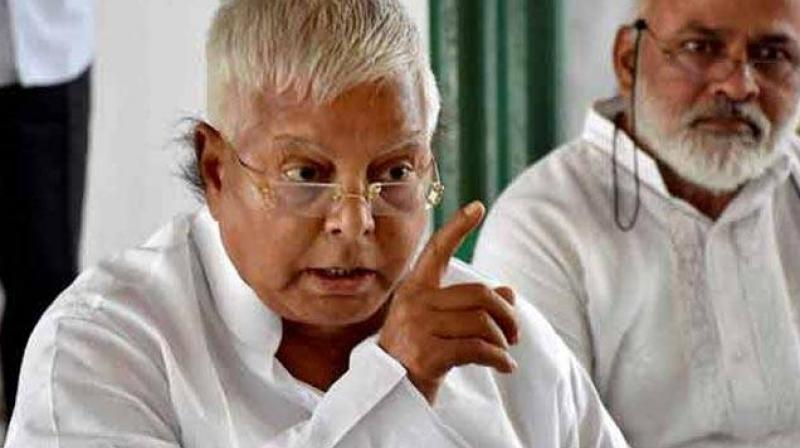 Lalu Yadav, allegedly, as railway minister handed over the maintenance of two railway hotels