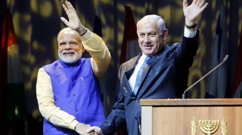 Narendra Modi addressed the Indian community at an event in Israel's Tel Aviv. (Photo: AFP)