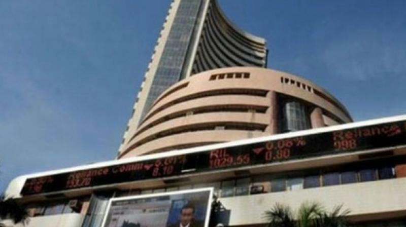 Sensex gets off record high, dives 222 points