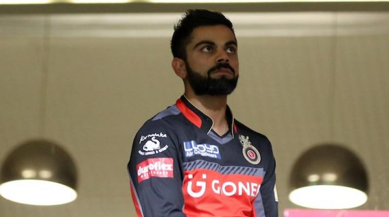 Virat Kohli looks on from the dressing room, as the Rain Gods play with RCB's fate in IPL 2017. (Photo: IPL/ Twitter)
