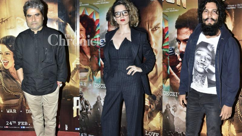Numerous celebrities were seen at a screening of the film 'Rangoon' held late Tuesday in Mumbai. (Photo: Viral Bhayani)