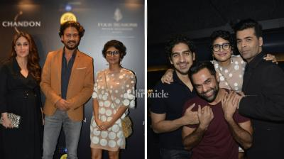 Kiran Rao hosted a hash for her B-Town friends and Kareena Kapoor Khan, Abhay Deol, Karan Johar, Ayan Mukerji among others were spotted at the bash on Monday night. (Photo: Viral Bhayani)