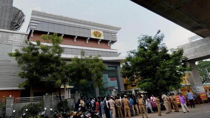 Income Tax department also raided the Tamil television channel, Jaya TV, over suspected tax evasion. (Photo: PTI)
