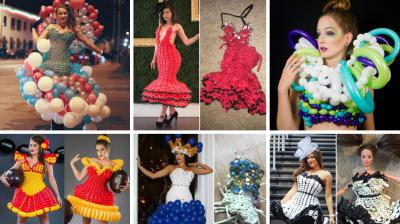 If you thought that the only things that you can make out of balloons are probably a dog or even a rabbit then you are grossly mistaken. Molly, a professional balloon artist, from Kansas City, Missouri, can actually make entire ball gowns out of balloons.