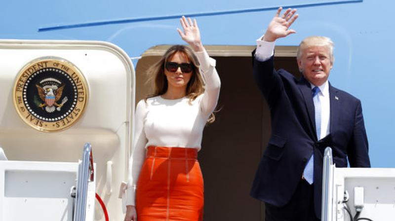 US President Donald Trump along with his wife Melania Trump embarked on a journey to Saudi Arabia, Israel, the Palestinian territories, Brussels, the Vatican and Sicily.